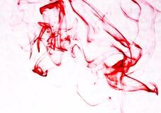 Colore rosso dell'inchiostro Fotografia Stock Libera da Diritti