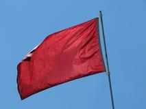 colore rosso della bandierina Immagini Stock Libere da Diritti