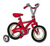 Colore rosso della bici Fotografia Stock