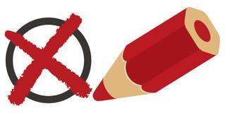 Colore rosso della casella di controllo del questionario royalty illustrazione gratis