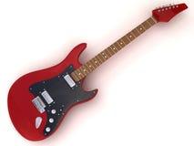 Colore rosso della chitarra Fotografie Stock Libere da Diritti