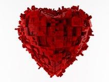 Colore rosso della città del cuore Immagine Stock Libera da Diritti