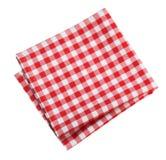 Colore rosso della cucina della tovaglia isolato Fotografie Stock Libere da Diritti