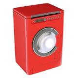 Colore rosso della lavatrice Fotografia Stock