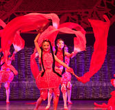 Colore rosso della porcellana di ballo Immagine Stock