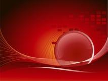 Colore rosso della priorità bassa Fotografia Stock