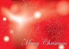 Colore rosso della priorità bassa di Buon Natale illustrazione vettoriale