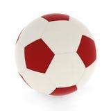 Colore rosso della sfera di calcio illustrazione vettoriale
