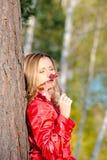 colore rosso della signora Fotografie Stock