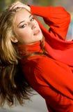 colore rosso della signora Fotografie Stock Libere da Diritti