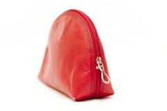 Colore rosso della signora di sacchetto Immagini Stock