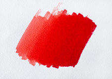 Colore rosso della spazzola su Libro Bianco Fotografia Stock Libera da Diritti