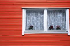 Colore rosso di architettura della Camera delle rose di legno del vaso Fotografia Stock Libera da Diritti