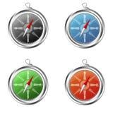 Colore rosso di Compas Fotografie Stock Libere da Diritti