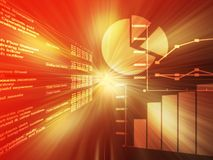 Colore rosso di dati del foglio elettronico Immagine Stock
