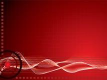 Colore rosso di griglia di Techno Fotografie Stock