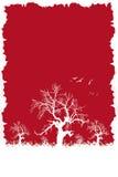 Colore rosso di inverno Fotografia Stock Libera da Diritti