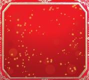 Colore rosso di nuovo anno e priorità bassa cinesi dell'oro Fotografia Stock