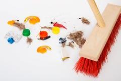 colore rosso di pulitura del mop Fotografia Stock