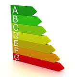 colore rosso di risparmio di temi della barra di energia 3d a verde Fotografie Stock