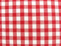 Colore rosso e bianco della superficie del panno della tessile Immagini Stock