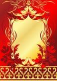 Colore rosso e blocco per grafici dell'oro royalty illustrazione gratis
