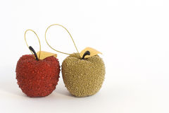 Colore rosso e mele dell'oro fotografia stock