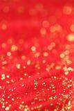 Colore rosso e priorità bassa dell'oro Fotografia Stock