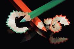 Colore rosso e verde immagini stock