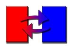Colore rosso ed azzurro royalty illustrazione gratis