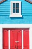 Colore rosso ed azzurro Fotografie Stock Libere da Diritti