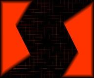 Colore rosso ed il nero. Immagini Stock