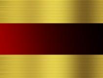Colore rosso ed oro barrati Fotografie Stock