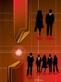 Colore rosso futuro di affari illustrazione di stock