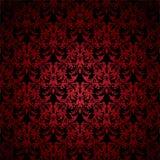 Colore rosso gotico floreale illustrazione di stock