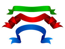 Colore rosso, gree e bandiere blu Fotografia Stock