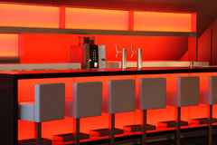 colore rosso illuminato barra Immagini Stock