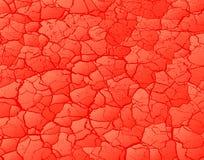 Colore rosso incrinato Fotografia Stock Libera da Diritti