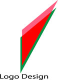 Colore rosso Logo Design del triangolo Immagini Stock