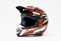 Colore rosso luminoso del casco Fotografia Stock Libera da Diritti