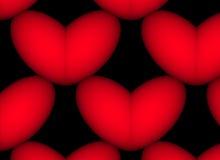 Colore rosso nel nero Fotografie Stock Libere da Diritti