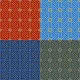 Colore rosso orientale del reticolo illustrazione di stock