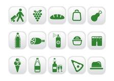 Colore rosso quattro delle icone del mercato Immagine Stock Libera da Diritti
