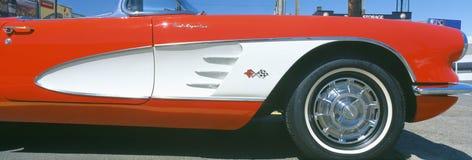 Colore rosso ripristinato Corvette 1959 Fotografia Stock Libera da Diritti