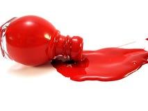 Colore rosso rovesciato Fotografie Stock