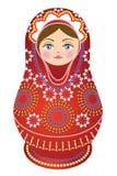 Colore rosso russo della bambola Fotografia Stock