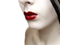 Colore rosso su pallido Fotografia Stock Libera da Diritti