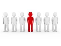 colore rosso umano della folla del basamento 3d Fotografie Stock