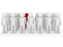 colore rosso umano della folla del basamento 3d Fotografia Stock