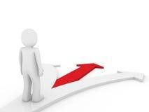 colore rosso umano di modo di senso della freccia 3d Fotografia Stock